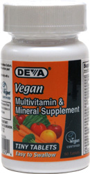 Tiny Tablets Vegan Multi-Vitamin and Mineral Supplement by DEVA