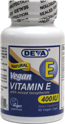 Natural Vegan Vitamin E 400iu by DEVA
