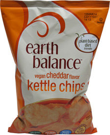 Vegan Cheddar Flavor Kettle Chips by Earth Balance