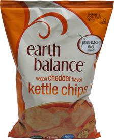 Vegan Cheddar Flavor Kettle Chips by Earth Balance