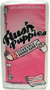 Flush Puppies Flushable Dog Waste Disposal Bags
