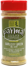Garlicky Green Parma! Vegan Parmesan Alternative