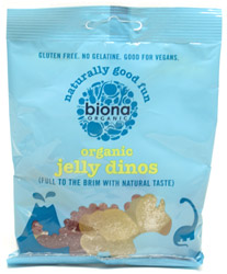 Imported Organic Jelly Dinosaurs by Biona