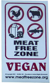 Meat Free Zone Magnet
