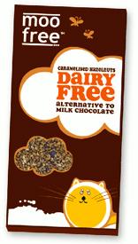 Caramelized Hazelnut Rice Milk Chocolate Bars by Moo Free