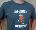 No Meat Athlete Carrot Logo Sustainable Material T-Shirt - Unisex Grey