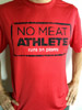 No Meat Athlete Stamp Logo Technical Athletic Shirt - Red