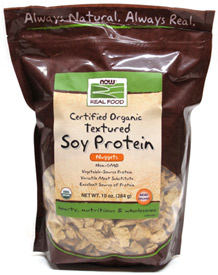 Organic Textured Soy Protein Nuggets by NOW Natural Foods