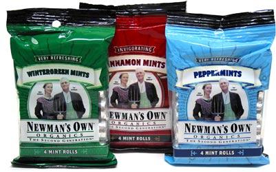 Organic Breath Mint Rolls by Newman's Own Organics