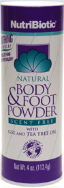 NutriBiotic Natural Body & Foot Powder