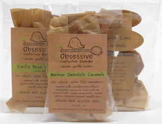Gourmet Vegan Caramels by Obsessive Confection Disorder