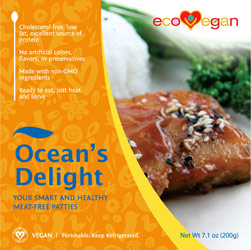 "Ocean's Delight Vegan ""Fish"" Patties by ecoVegan"