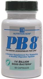 PB8 Pro-Biotic Acidophilus Supplement by Nutrition Now