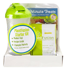 PlantFusion Shaker Bottle and Protein Packet Starter Kit