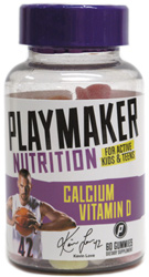 Calcium + Vitamin D Gummy Vitamins by Playmaker Nutrition
