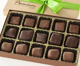 15 Piece Chocolate Covered Marshmallow, Caramel and Nougat Collection by Premium Chocolatiers