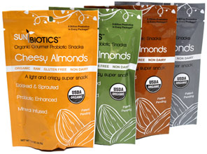 Organic Gourmet Probiotic Almonds by SunBiotics