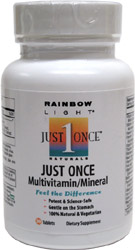 Iron-Free Just Once 1-A-Day Multi-Vitamin by Rainbow Light