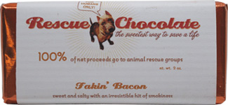 Fakin' Bacon Chocolate Bar by Rescue Chocolate