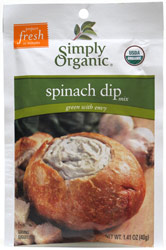 Simply Organic Spinach Dip Mix
