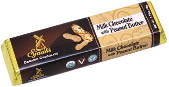 "Organic ""Milk"" Chocolate Peanut Butter Bar by Sjaaks"