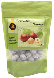 Organic Chocolate Covered Hazelnuts by Sjaaks