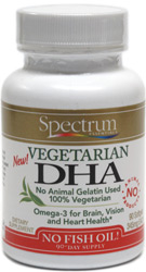 Vegan DHA Softgels by Spectrum Essentials