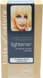 Natural Permanent Hair Lightener by Tints of Nature for Medium Brown to Blonde Hair