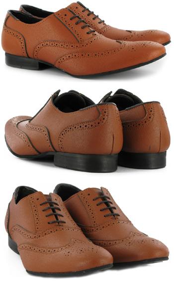Tan Brogue by Vegetarian Shoes - Unisex
