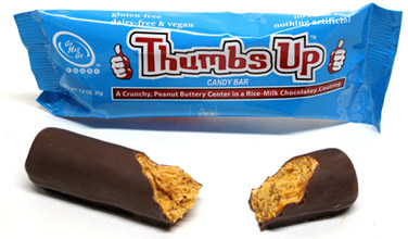 Thumbs Up! Crispy Peanut Butter Candy Bar by Go Max Go Foods