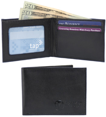 Compact Wallet by The Vegan Collection – Black