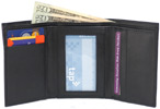 Armstrong Tri-Fold Wallet by The Vegan Collection – Black