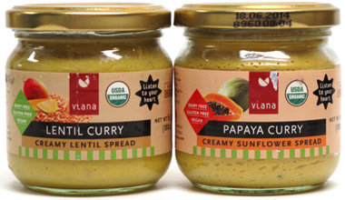 Organic Curry Spreads by Viana