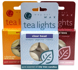 Scented Soy Wax Tea Lights by Way Out Wax