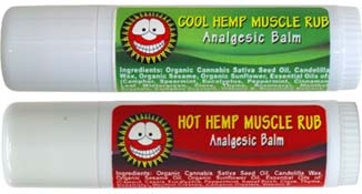 Hot and Cool Hemp Muscle Rubs by Merry Hempsters