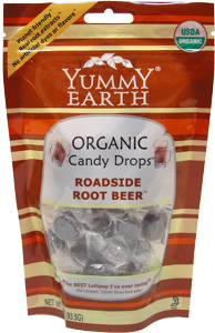 Organic Roadside Root Beer Candy Drops by Yummy Earth