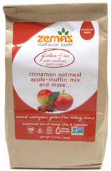 Gluten-Free Cinnamon-Oatmeal Apple Muffin Mix by Zemas Madhouse Foods