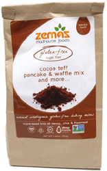 Cocoa Teff Gluten-Free Pancake & Waffle Mix by Zemas Madhouse Foods