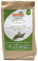 Gluten-Free Rosemary-Millet Focaccia & Pizza Crust Mix by Zemas Madhouse Foods