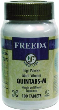 Quintabs High Potency 1-A-Day Multivitamin by Freeda