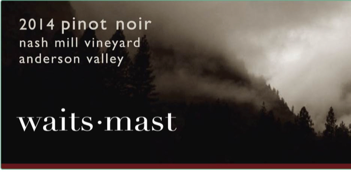 2014 Nash Mill Vineyard, Anderson Valley, Pinot Noir
