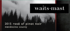 2015 Waits-Mast Rosé of Pinot Noir, Mendocino County