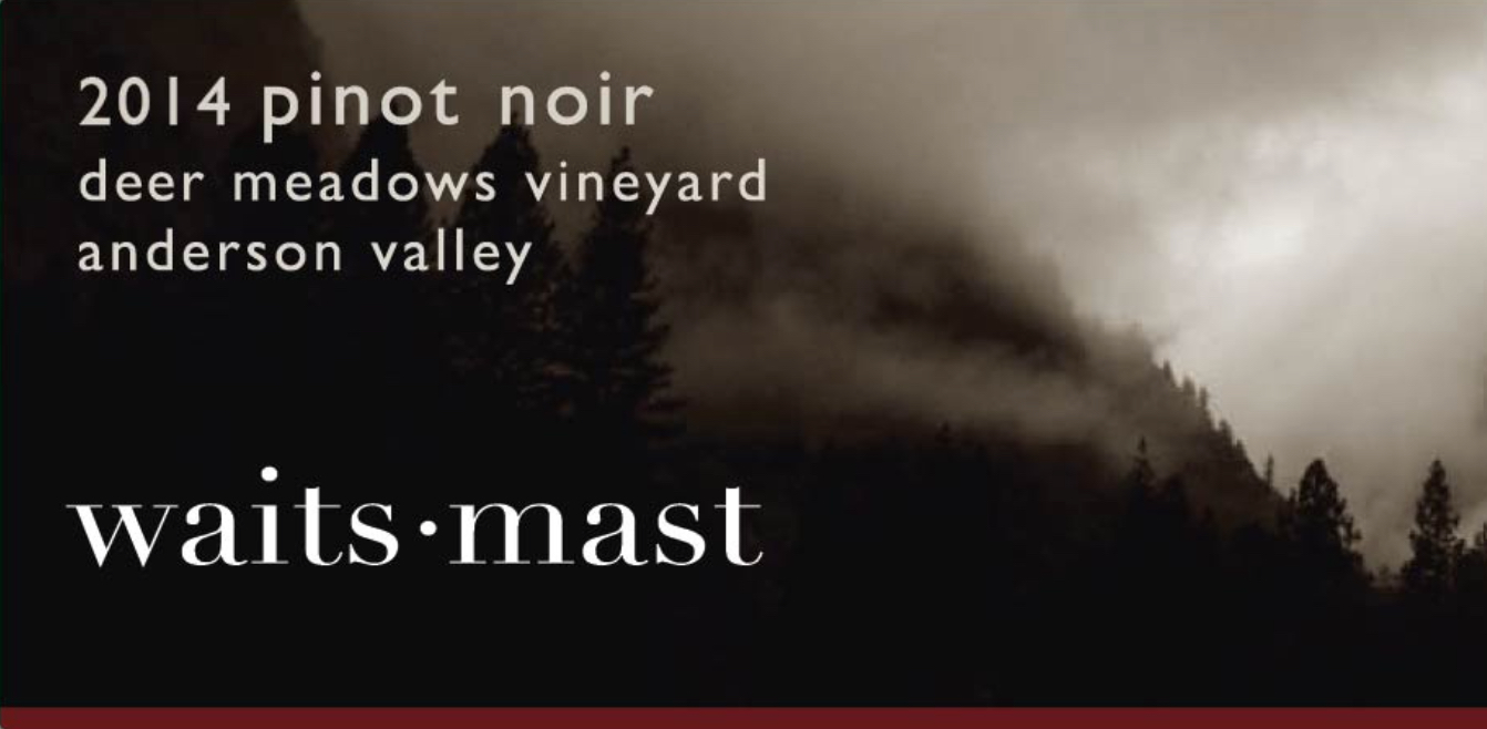 2014 Waits-Mast Pinot Noir, Deer Meadows Vineyard, Anderson Valley
