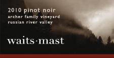 2010 Waits-Mast Pinot Noir, Archer Family Vineyard, Russian River Valley