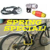 Spring Special -  Bike Lights & Bike Lock