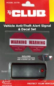 Vehicle Anti-Theft Alert Signal and Decal Set