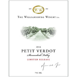 2016 Shenandoah Valley Petit Verdot, Limited Release MAIN