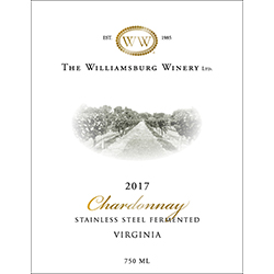 2017 Virginia Chardonnay, Stainless Steel Fermented_THUMBNAIL