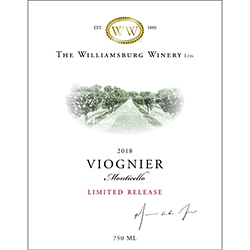 2018 Monticello Viognier, Limited Release THUMBNAIL