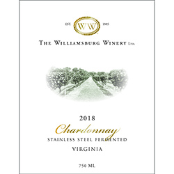 2018 Virginia Chardonnay, Stainless Steel Fermented THUMBNAIL